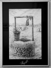Картина в рамке «Колодец в пустыне»