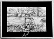 Картина в рамке «Колодец в лесу»