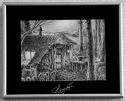 Картина в рамке «Ночь в лесу»