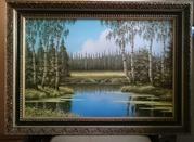 Картина- Весна.В лесу у озера.